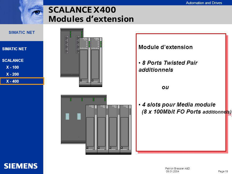 SCALANCE X400 Modules d'extension