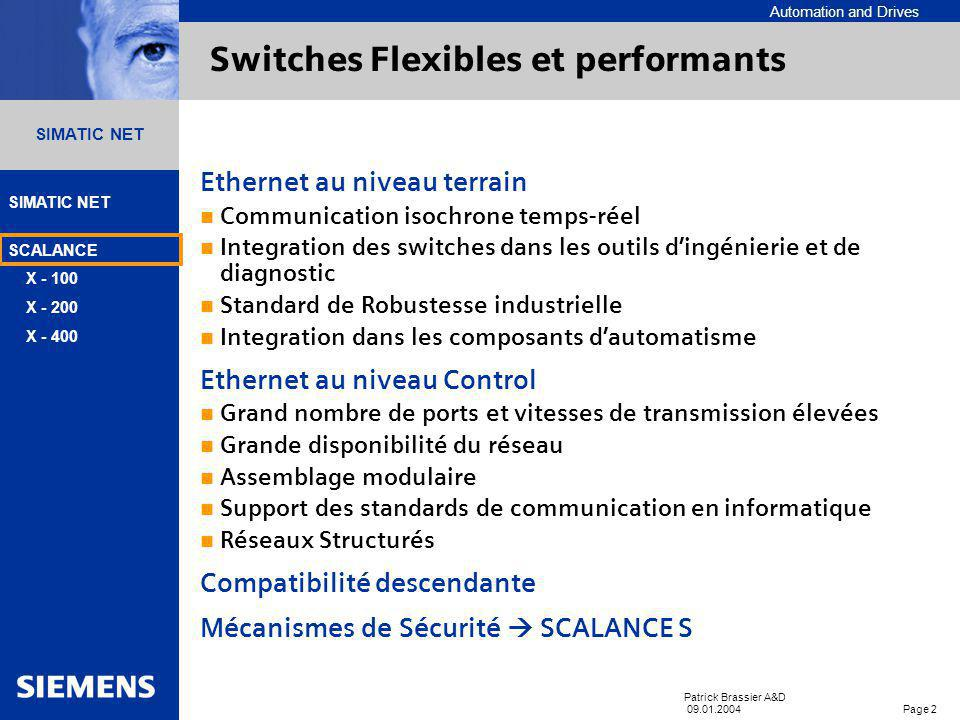 Switches Flexibles et performants