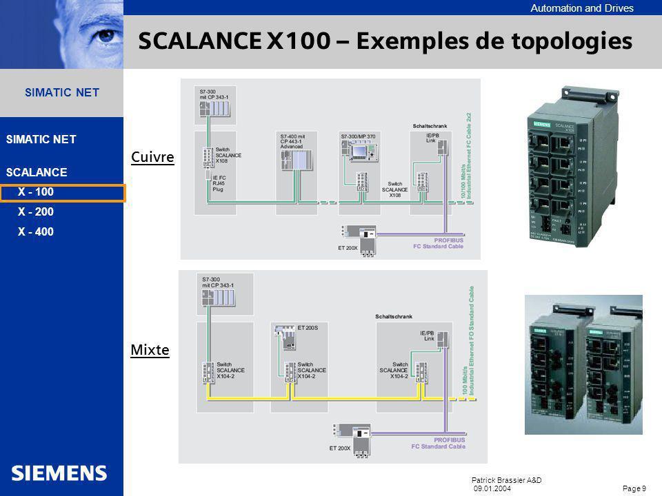 SCALANCE X100 – Exemples de topologies