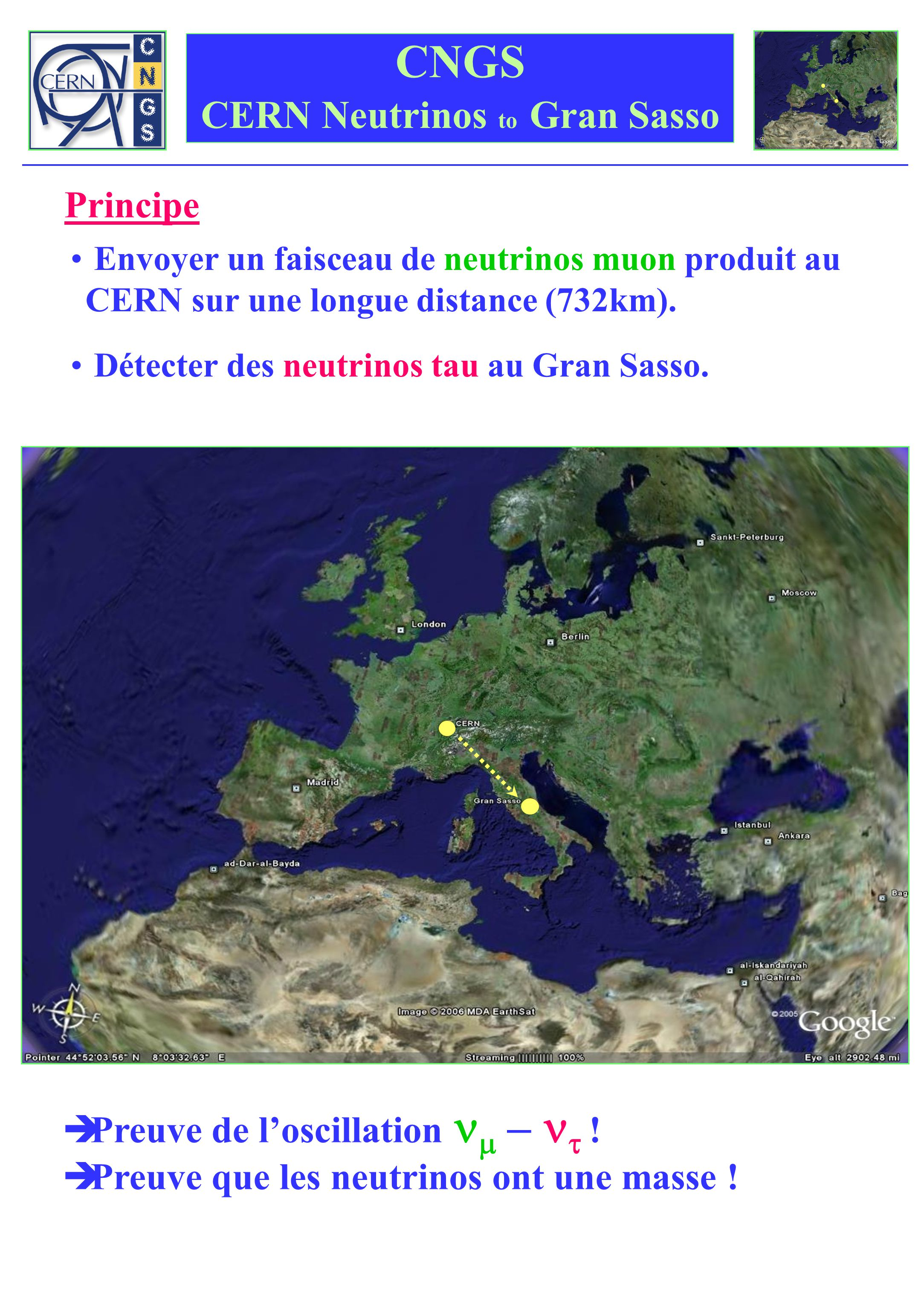 CNGS CERN Neutrinos to Gran Sasso