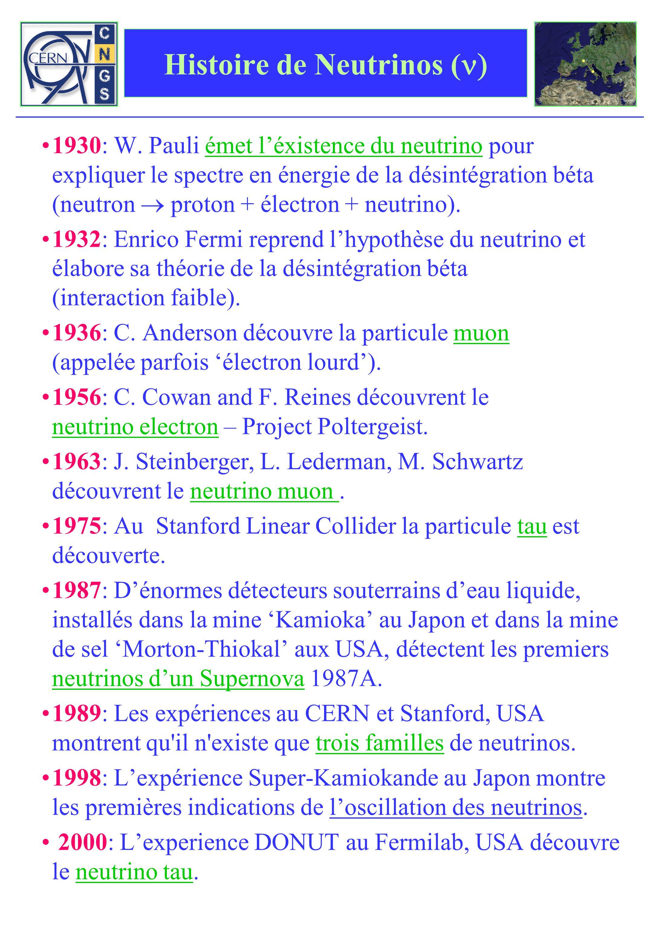 Histoire de Neutrinos (n)