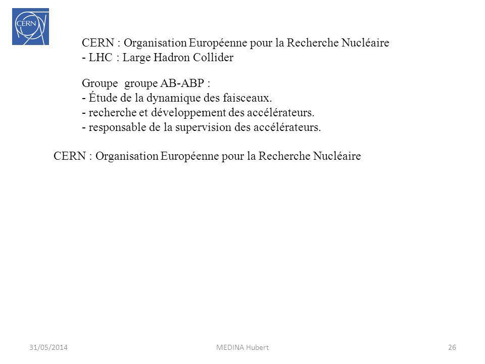 CERN : Organisation Européenne pour la Recherche Nucléaire