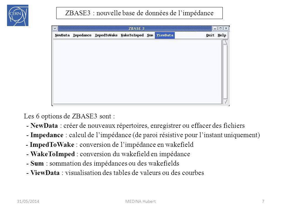 ZBASE3 : nouvelle base de données de l'impédance