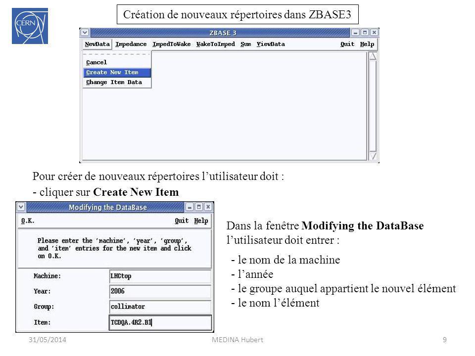Création de nouveaux répertoires dans ZBASE3