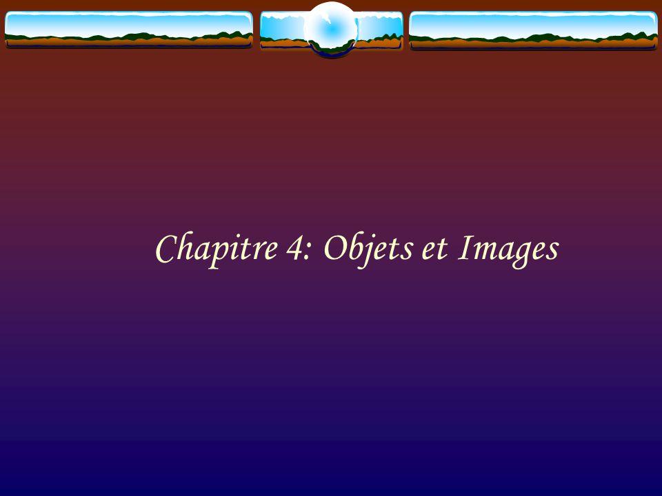 Chapitre 4: Objets et Images