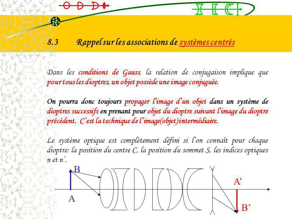 8.3 Rappel sur les associations de systèmes centrés