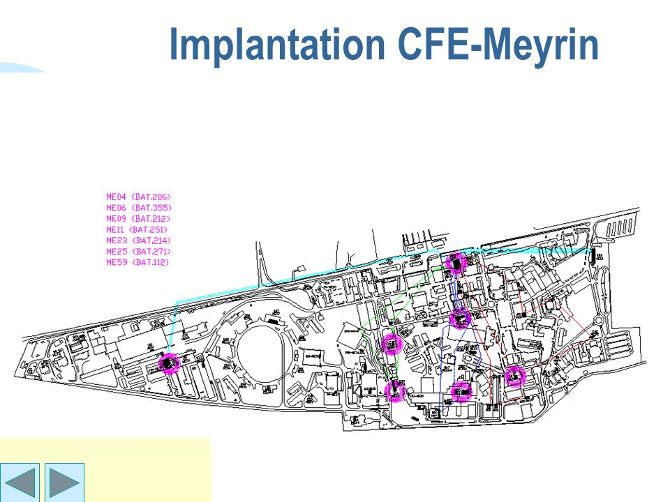 Implantation CFE-Meyrin