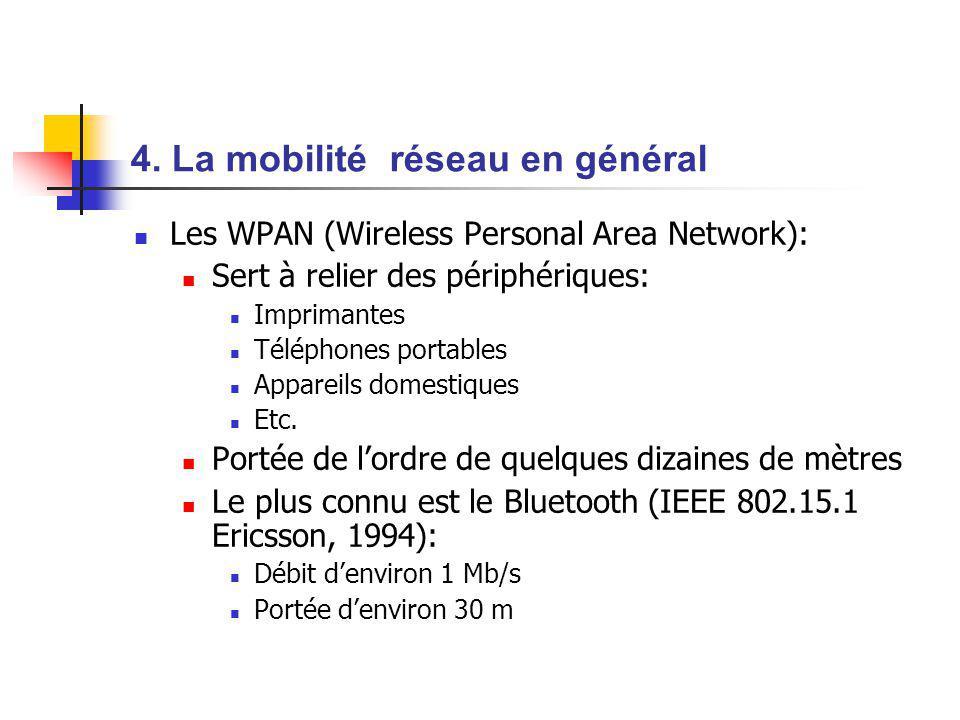 4. La mobilité réseau en général