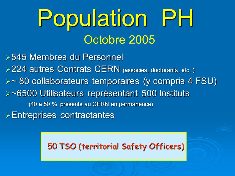 50 TSO (territorial Safety Officers)
