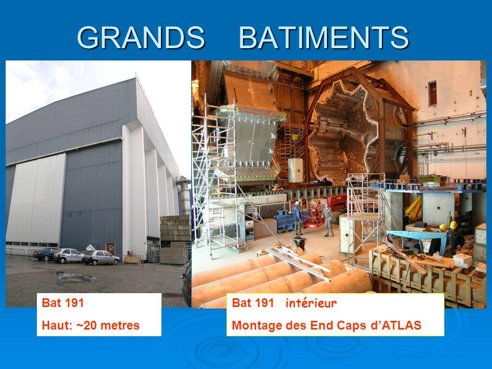 GRANDS BATIMENTS Bat 191 Haut: ~20 metres Bat 191 intérieur
