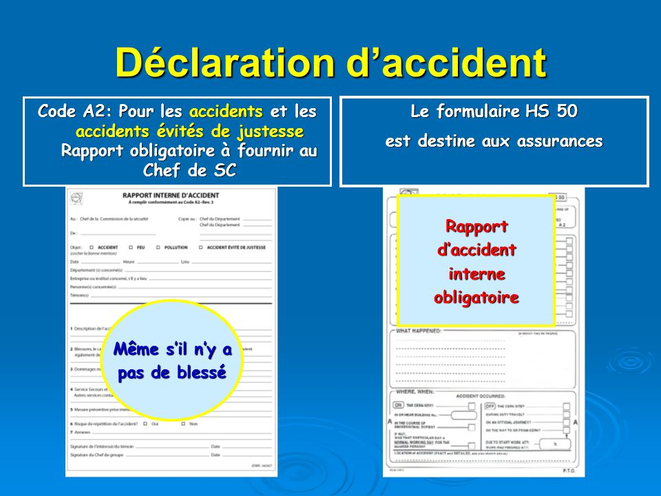 Déclaration d'accident