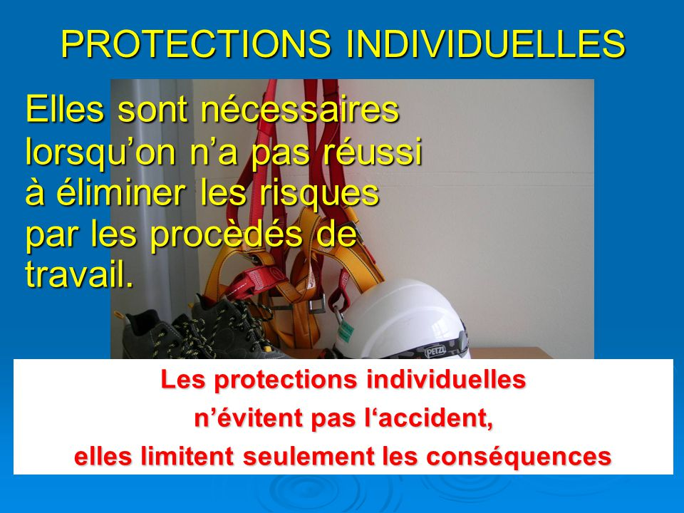 PROTECTIONS INDIVIDUELLES