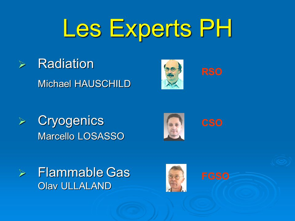 Les Experts PH Radiation Cryogenics Flammable Gas Olav ULLALAND