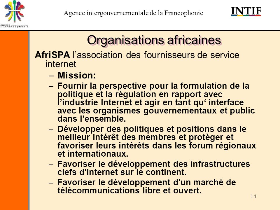 Organisations africaines