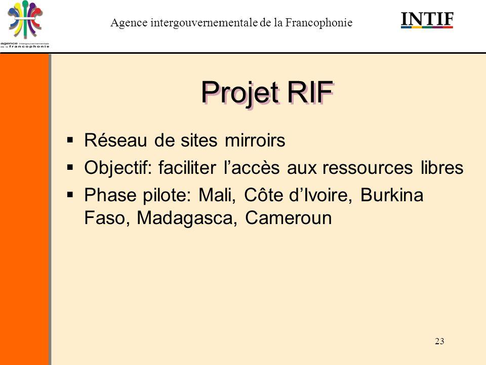 Projet RIF Réseau de sites mirroirs