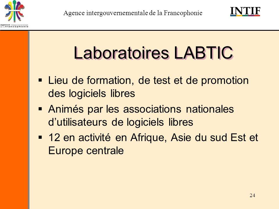 Laboratoires LABTIC Lieu de formation, de test et de promotion des logiciels libres.