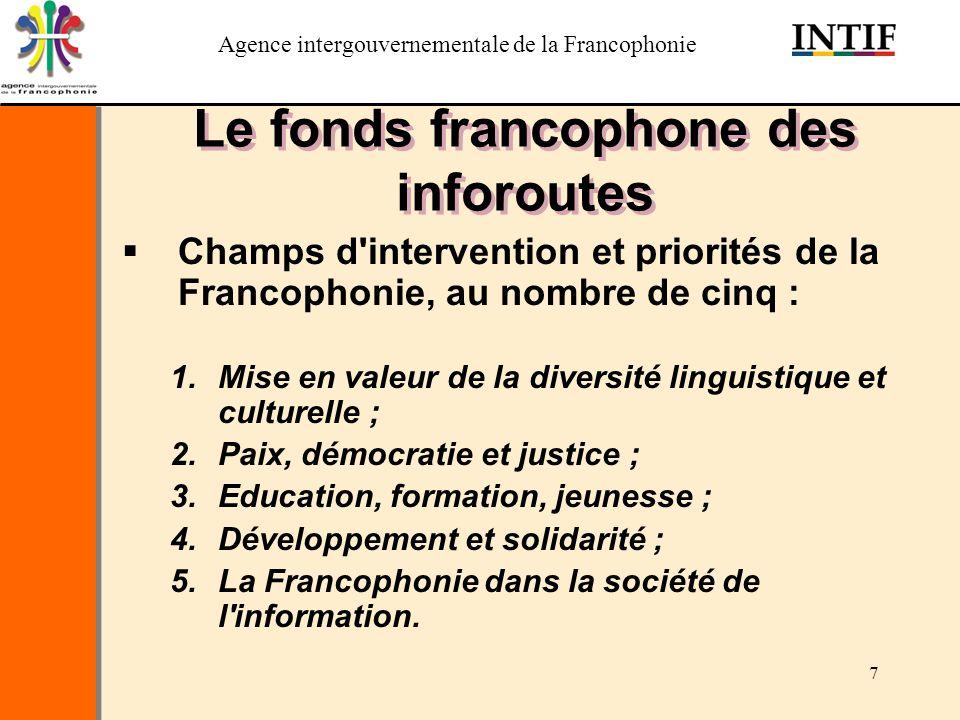 Le fonds francophone des inforoutes