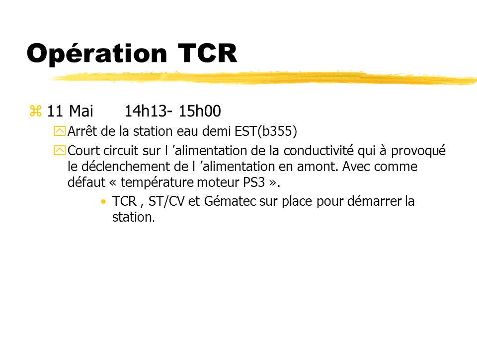 Opération TCR 11 Mai 14h13- 15h00. Arrêt de la station eau demi EST(b355)