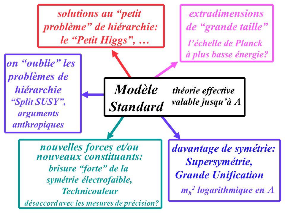Modèle Standard solutions au petit problème de hiérarchie: