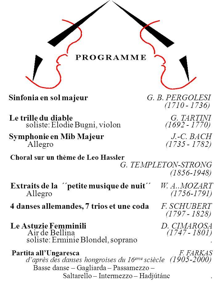 Sinfonia en sol majeur G. B. PERGOLESI (1710 - 1736)