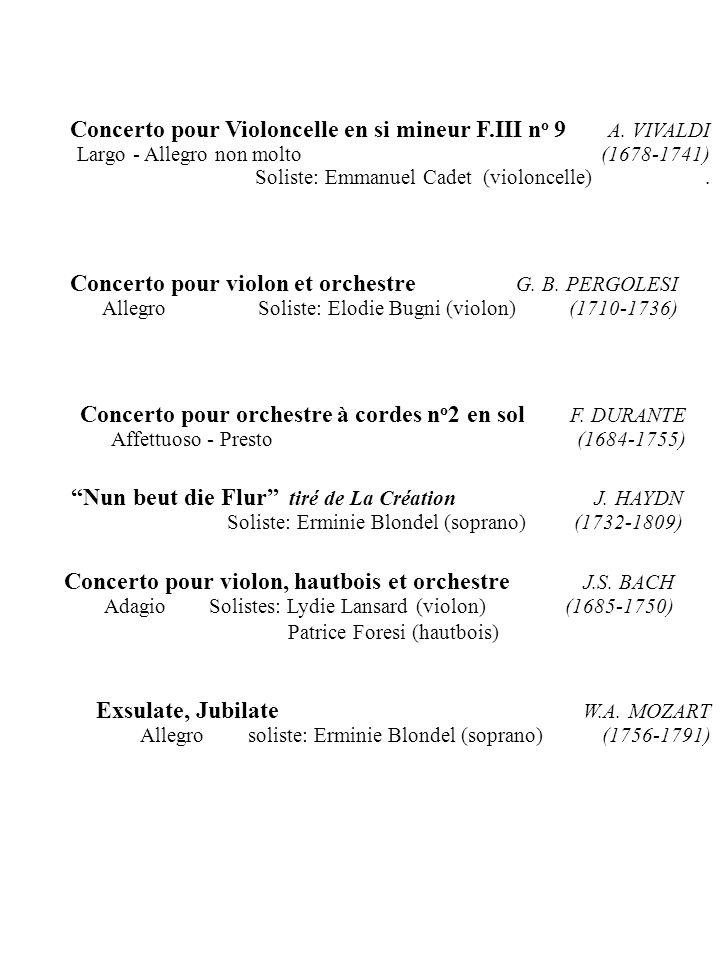 Concerto pour violon et orchestre G. B. PERGOLESI