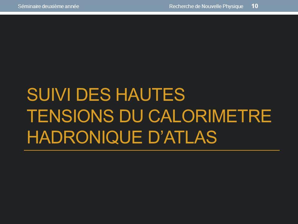 SUIVI DES HAUTES TENSIONS DU CALORIMETRE HADRONIQUE D'ATLAS