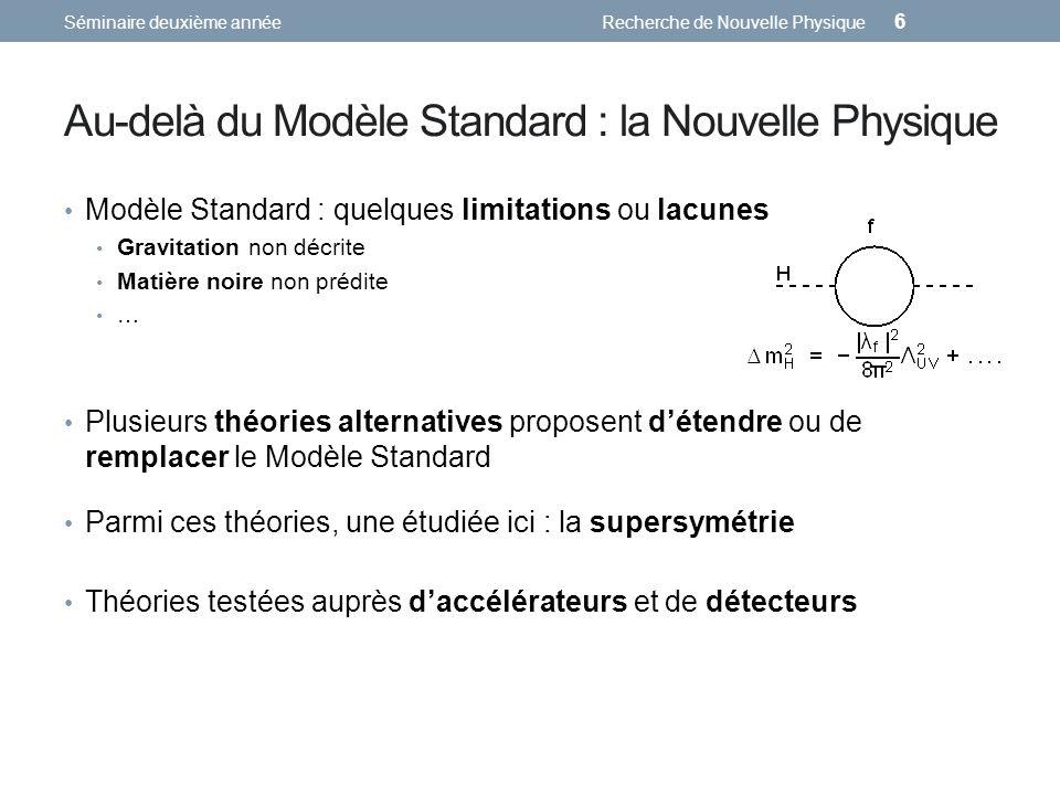 Au-delà du Modèle Standard : la Nouvelle Physique
