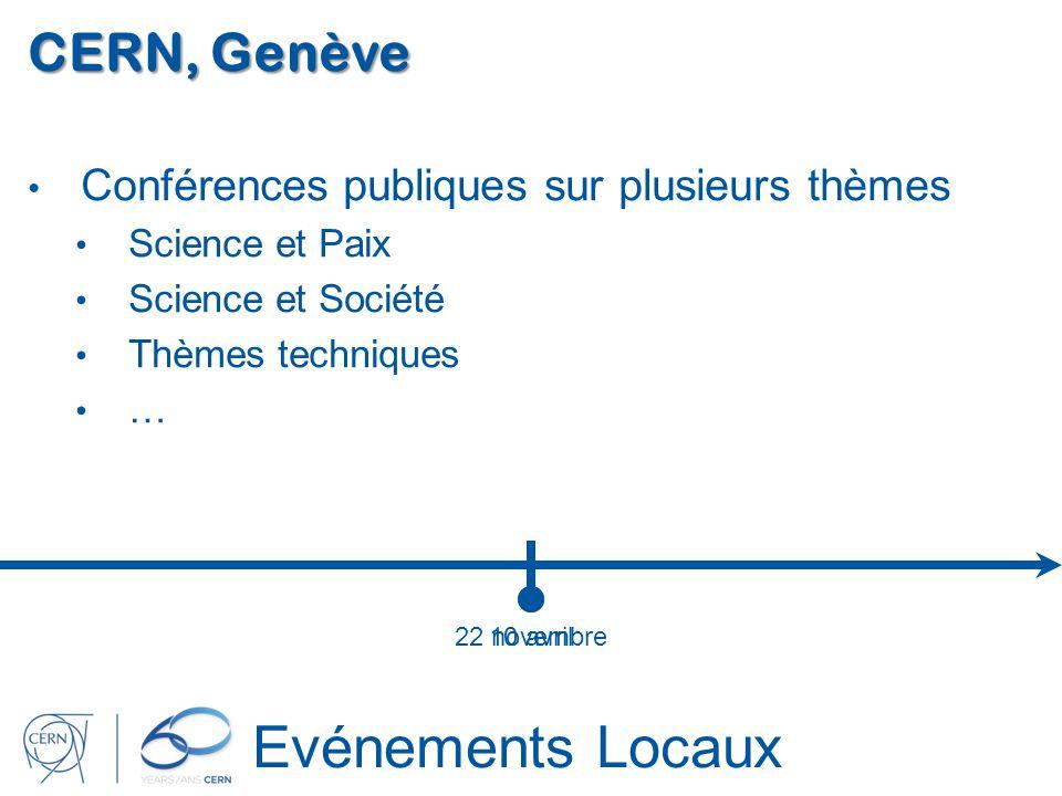 Evénements Locaux CERN, Genève