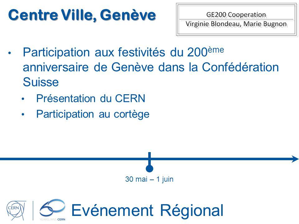 Evénement Régional Centre Ville, Genève