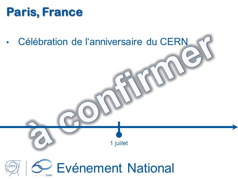 à confirmer Evénement National Paris, France
