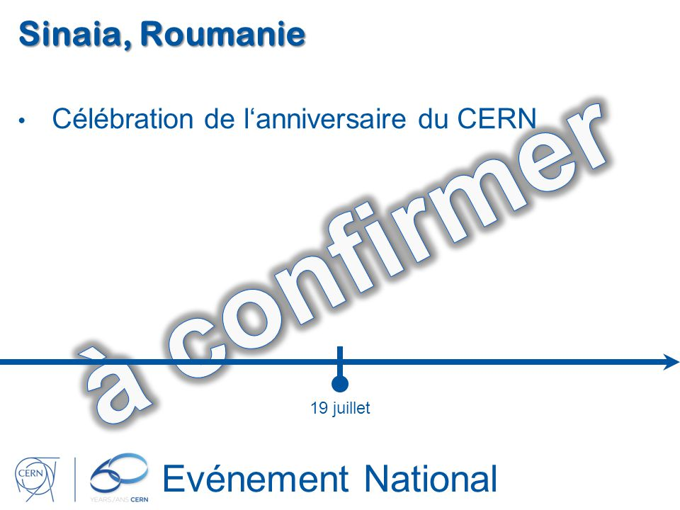 à confirmer Evénement National Sinaia, Roumanie
