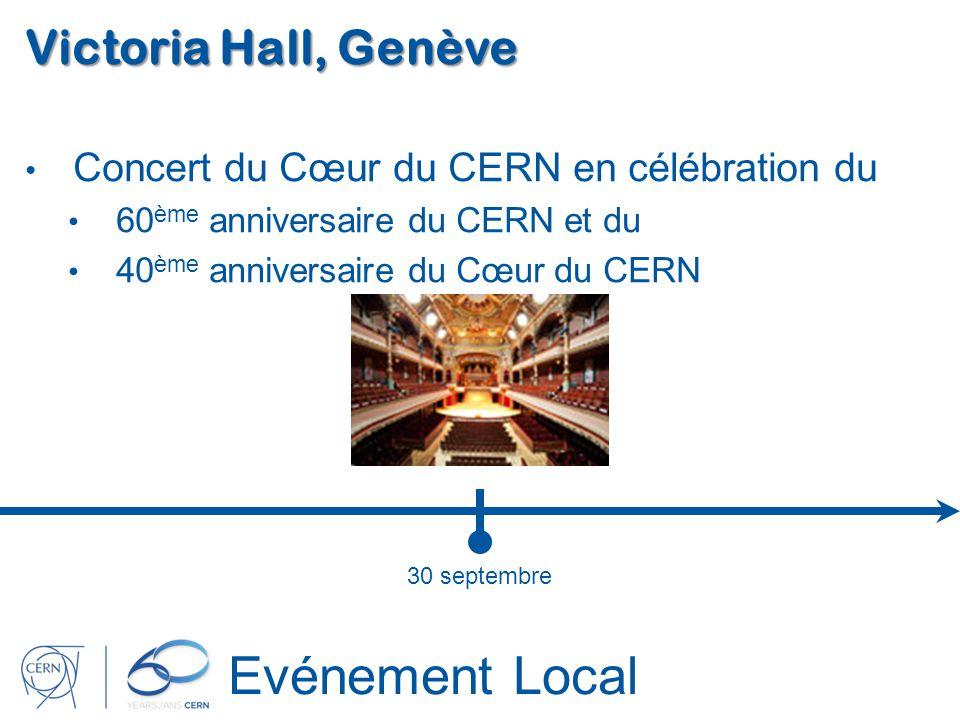 Evénement Local Victoria Hall, Genève