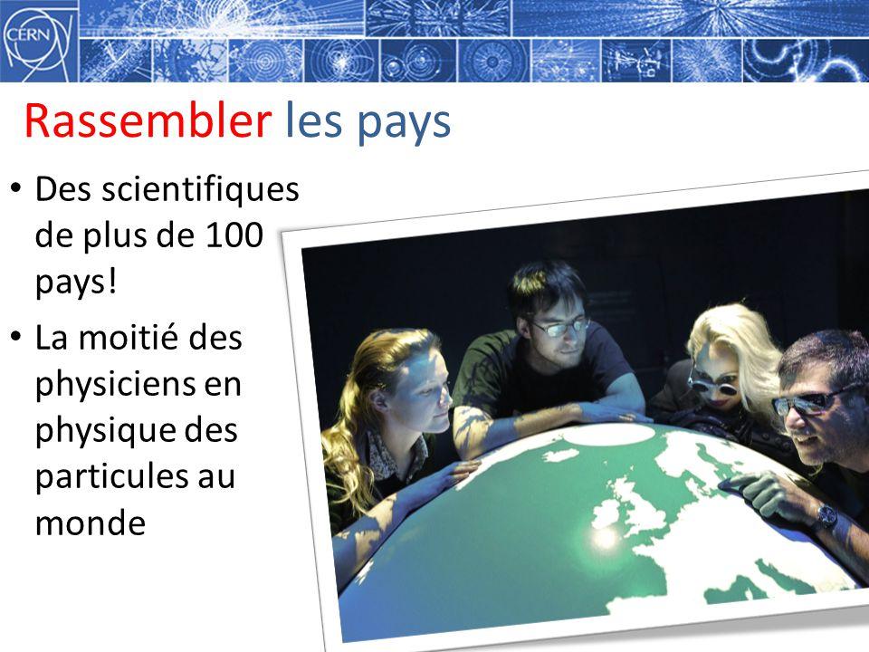 Rassembler les pays Des scientifiques de plus de 100 pays!