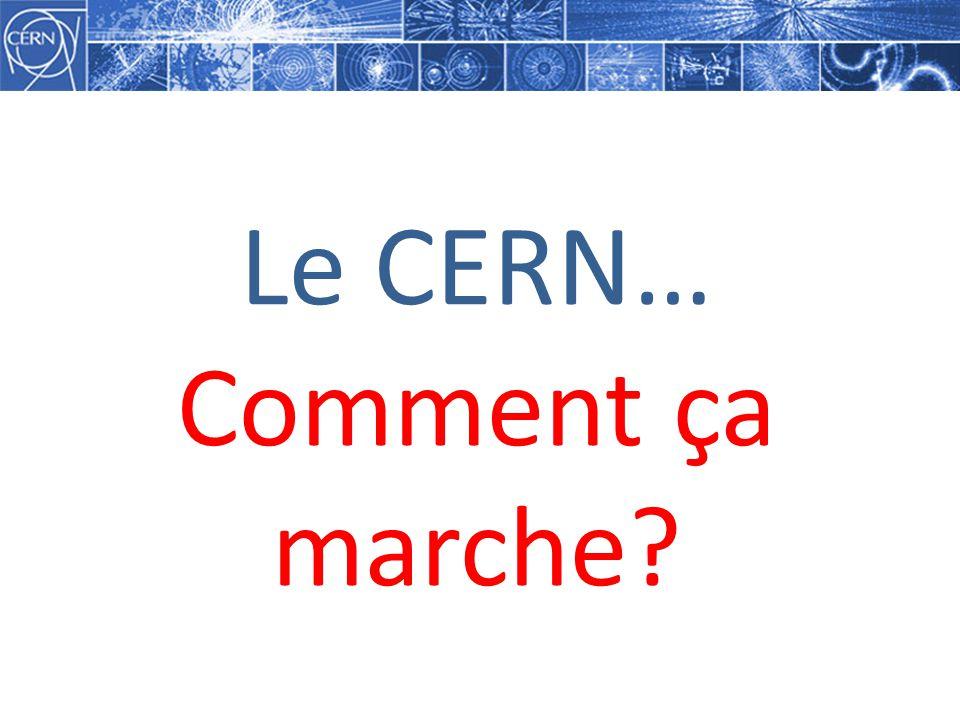 Le CERN… Comment ça marche