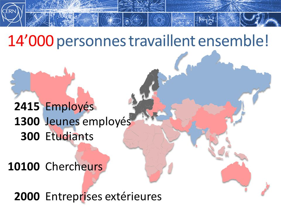 14'000 personnes travaillent ensemble!