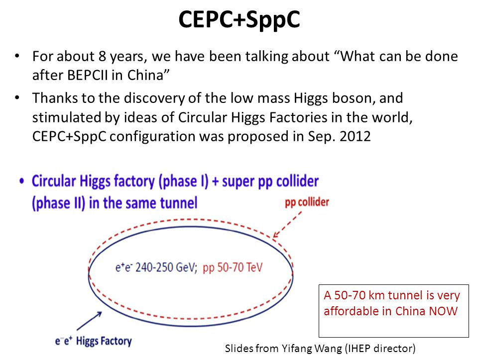 CEPC+SppC For about 8 years, we have been talking about What can be done after BEPCII in China