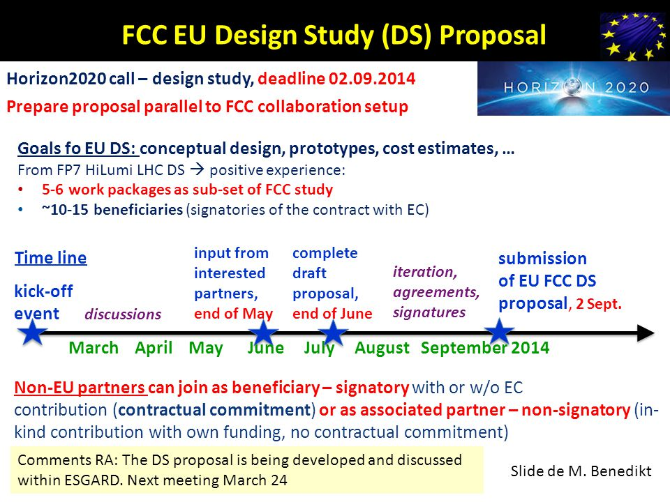 FCC EU Design Study (DS) Proposal