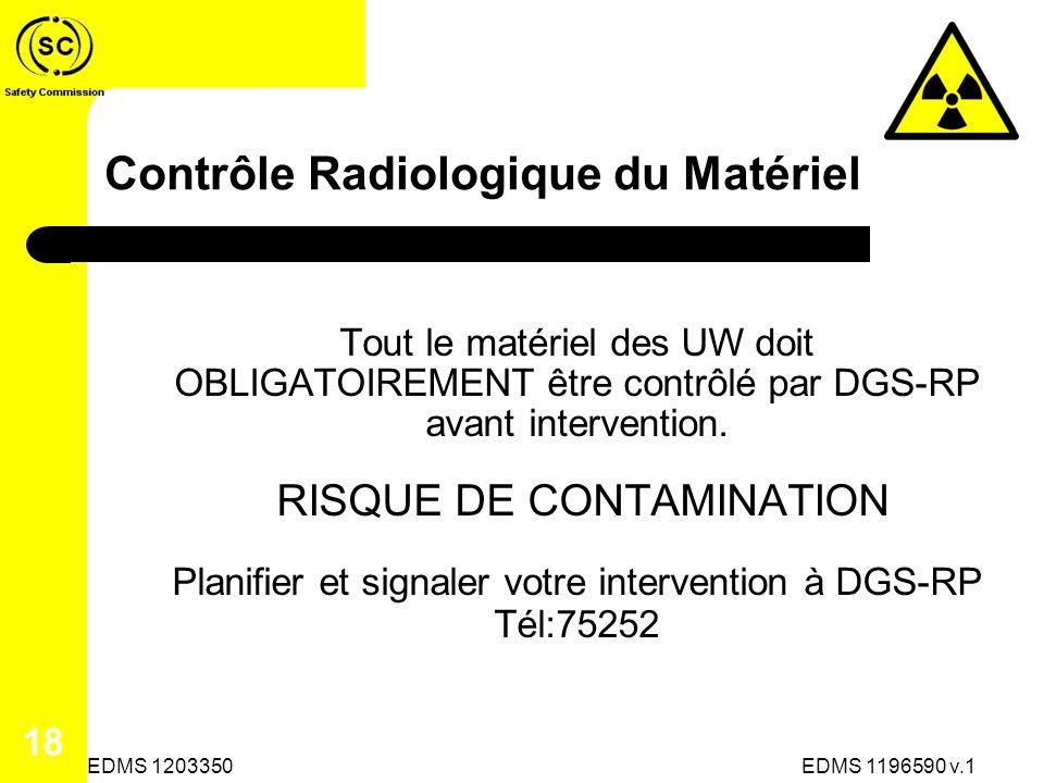 Contrôle Radiologique du Matériel