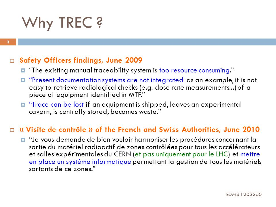Why TREC Safety Officers findings, June 2009