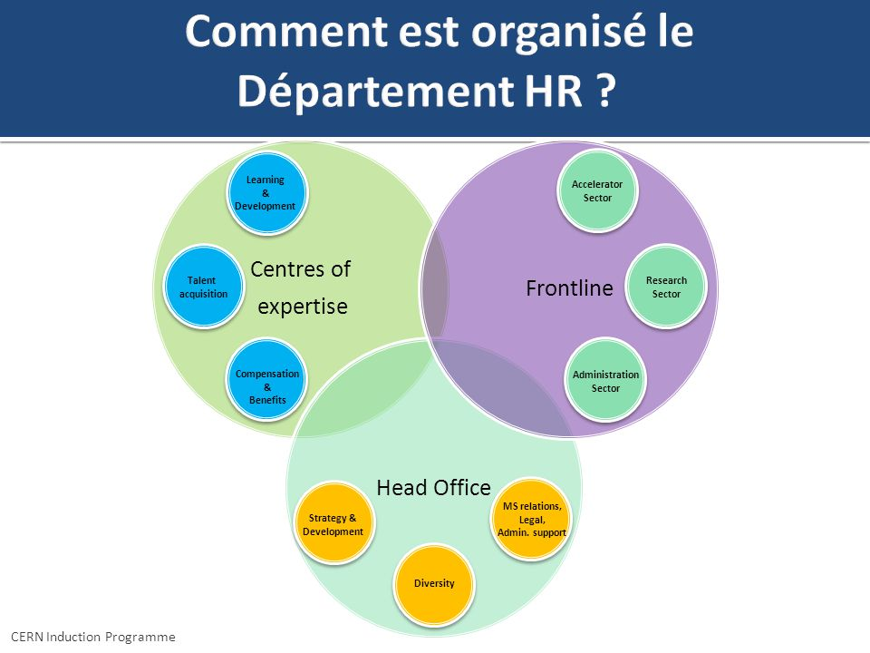 Comment est organisé le Département HR