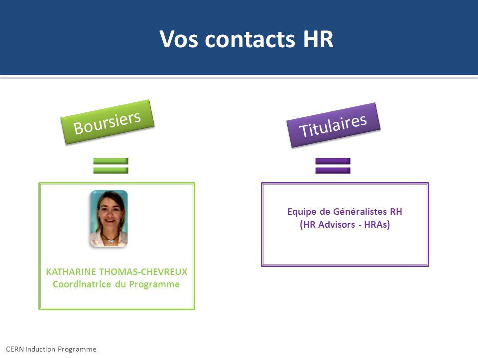 Vos contacts HR Boursiers Titulaires Equipe de Généralistes RH
