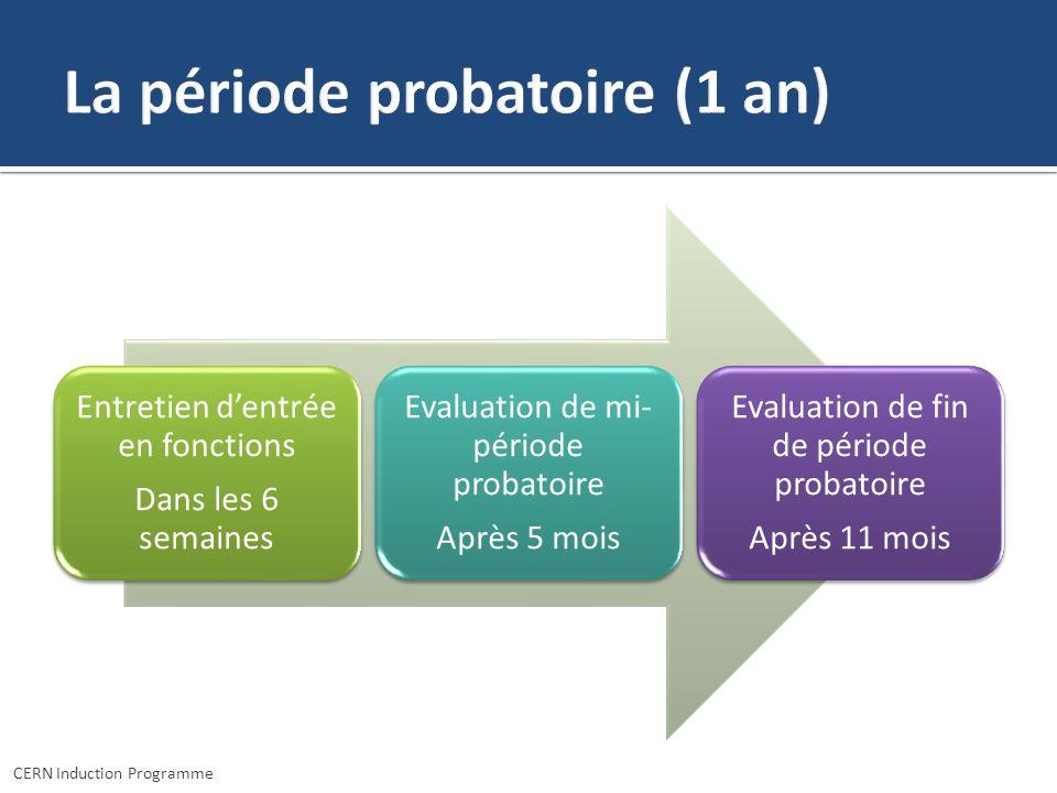La période probatoire (1 an)