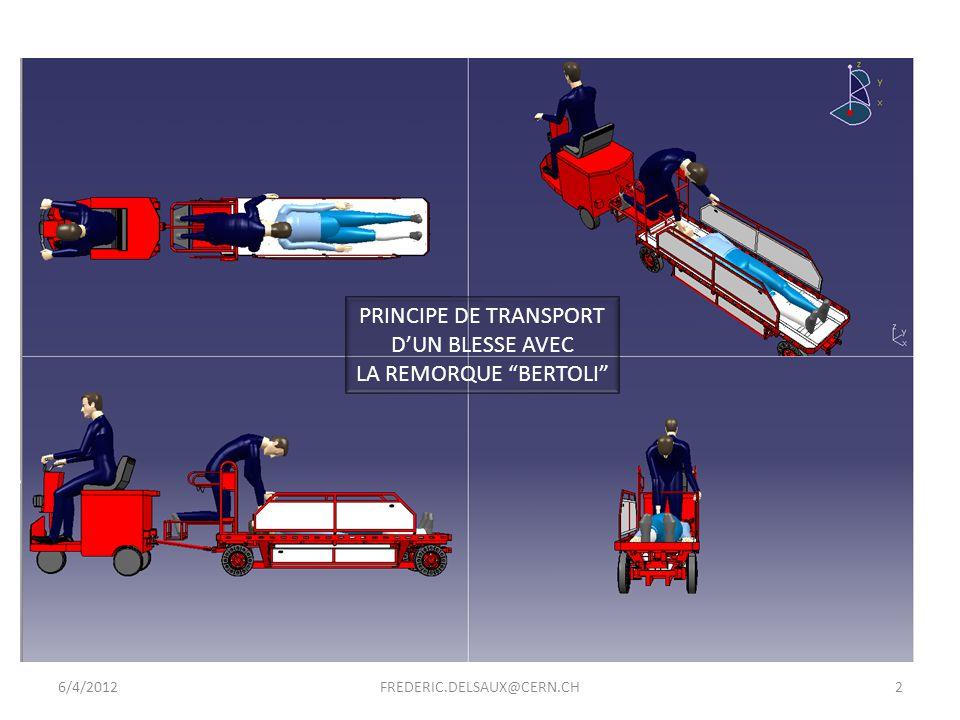 PRINCIPE DE TRANSPORT D'UN BLESSE AVEC LA REMORQUE BERTOLI 6/4/2012