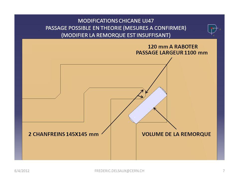 MODIFICATIONS CHICANE UJ47