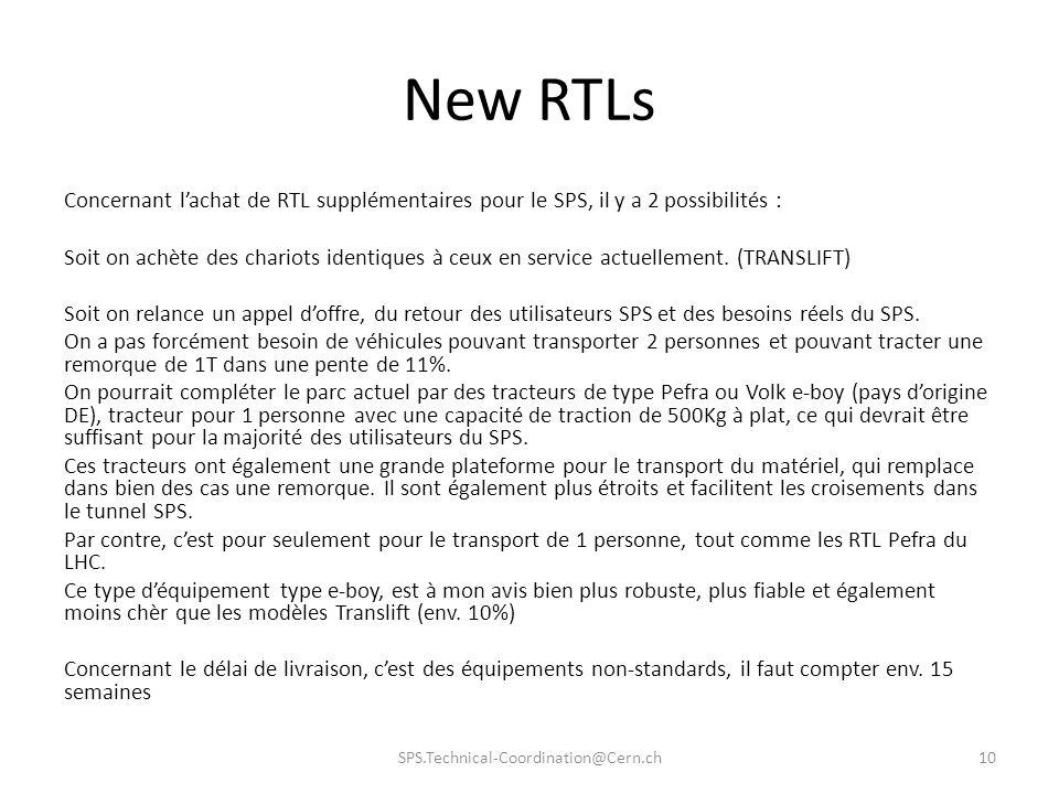 New RTLs