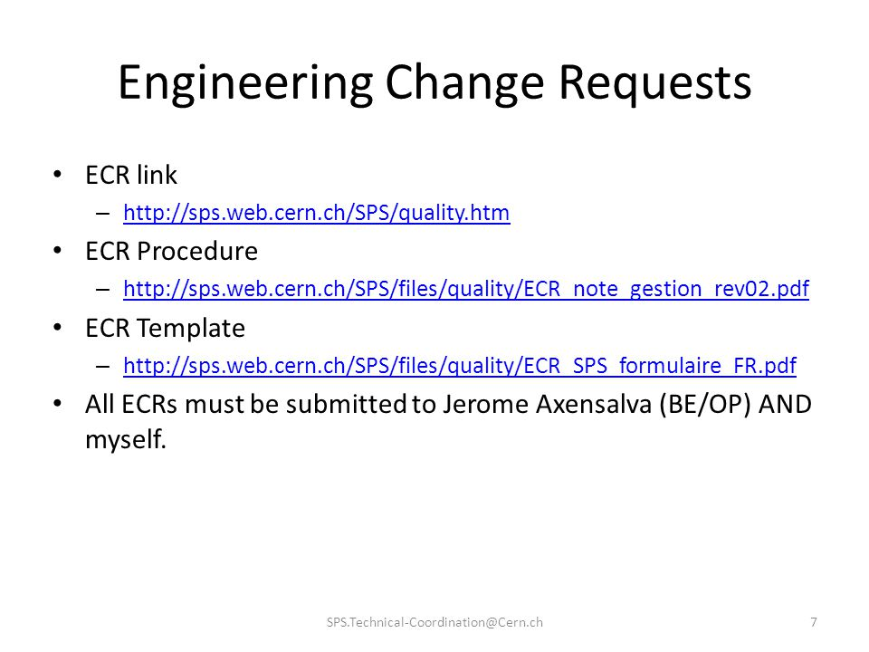 Engineering Change Requests
