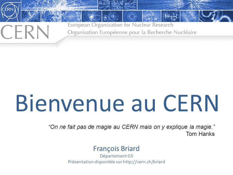 Présentation disponible sur http://cern.ch/briard