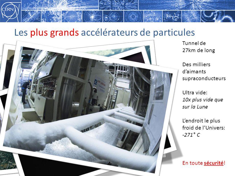 Les plus grands accélérateurs de particules