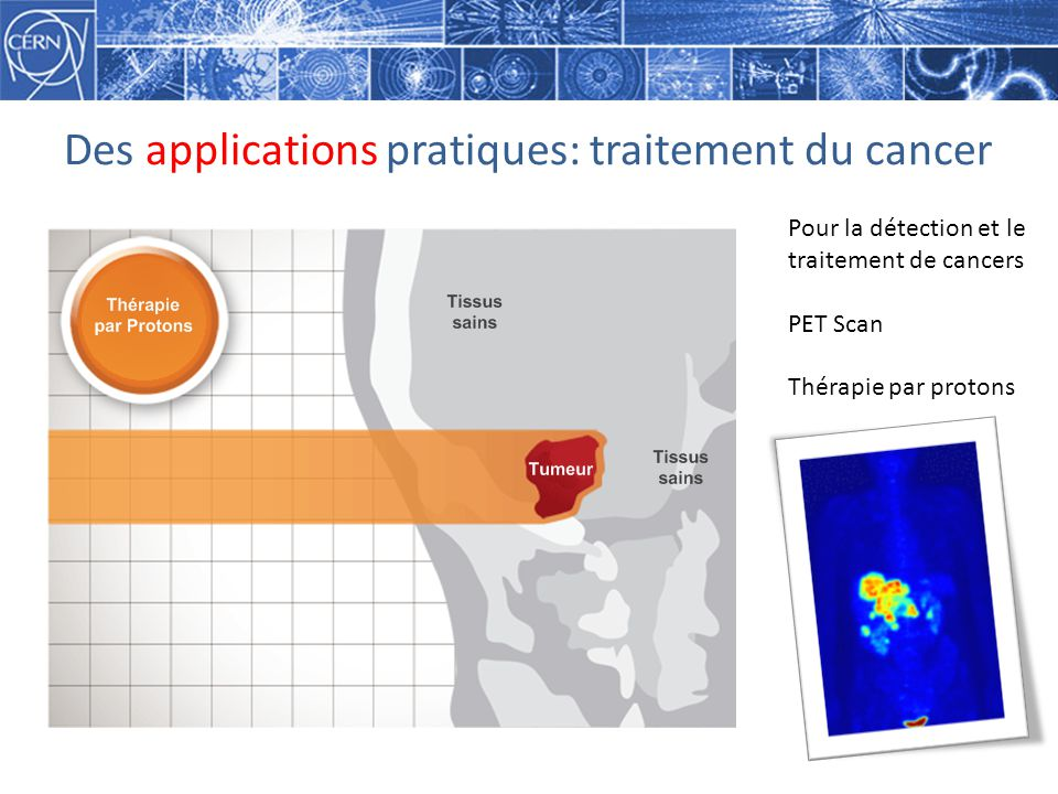 Des applications pratiques: traitement du cancer