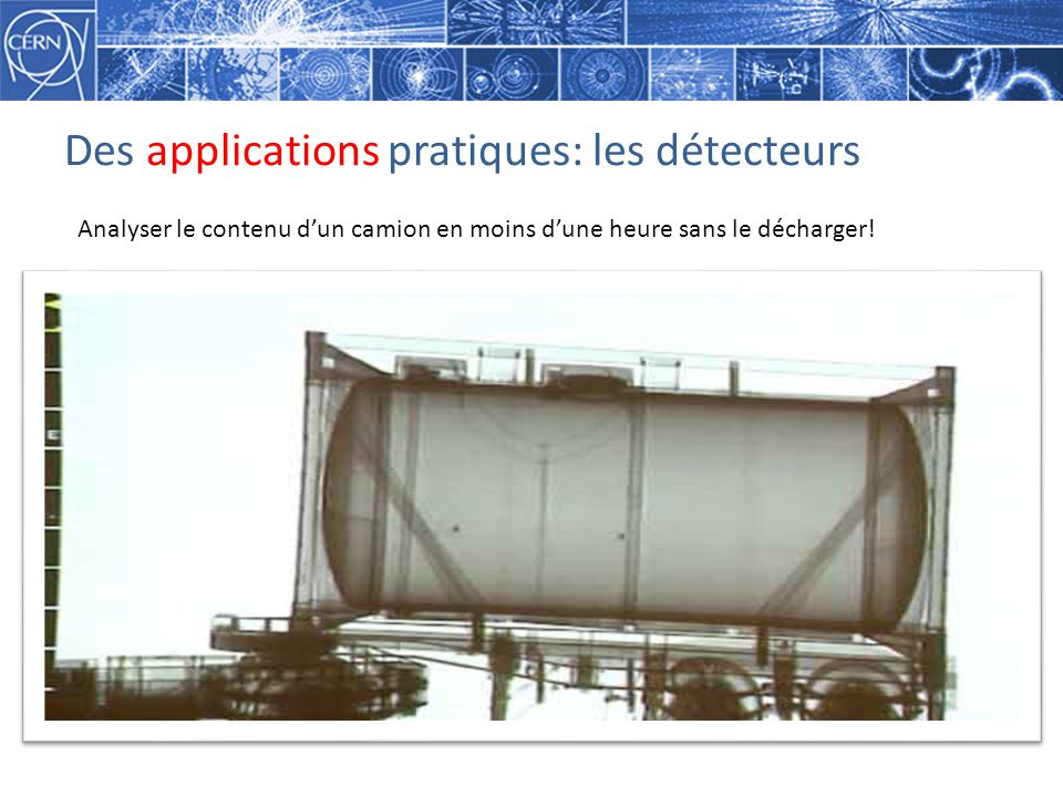Des applications pratiques: les détecteurs